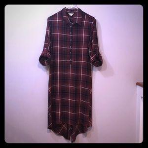 Max Studio Flannel Midi Dress Sz M EUC